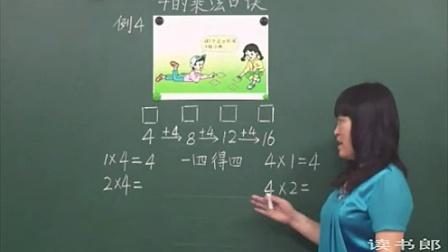 黄冈中学_人教版数学二年级上册_4的乘法口诀