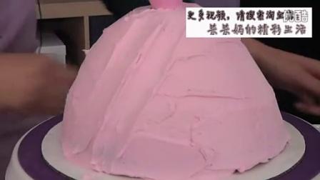 芭比蛋糕、奶油霜裱花、韩式裱花