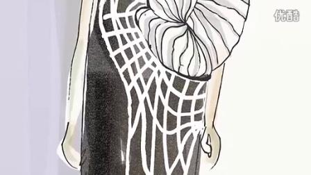 3D打印的衣服走上T型台 美女设计师用3D打印机 制作