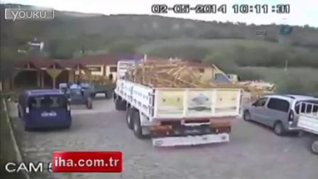 Truck driver survives