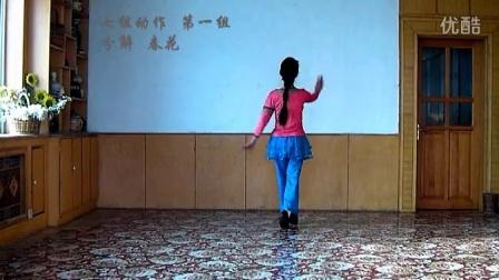 春花广场舞 红歌《毛主席是咱社里人》(附口令及背面)原创