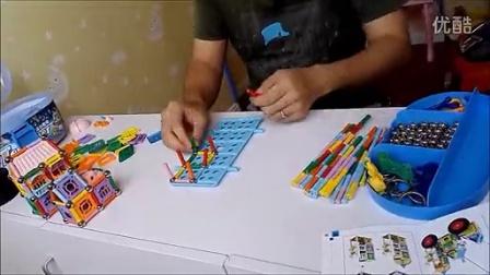 磁力棒玩具3-6岁以上男女孩儿童益智玩具生日礼物移动的城堡_