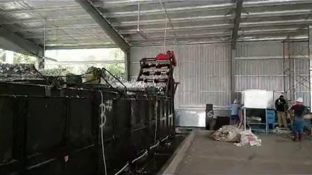 在柬埔寨安装吨袋破碎清洗带造粒生产线