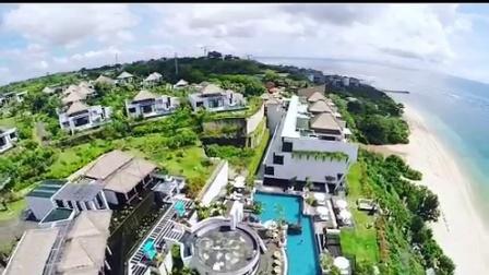 俯瞰巴厘岛萨玛贝别墅酒店