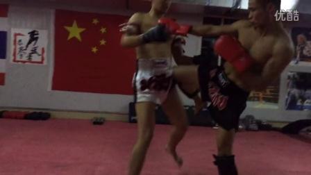 攀枝花泰拳 散打训练中心模拟实战 2