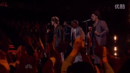 【美国之声】决赛之夜!火星现场!!!Bruno Mars & Mark Ronson - Uptown Funk