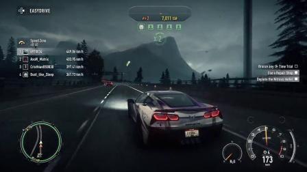 和NFS好友一起玩极品飞车2英国传奇跑车阿斯顿马丁VS美国暴力超跑C7 Z06 纯娱乐视频