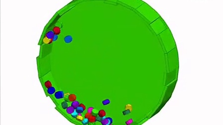 Tablets in a Rotating Drum, Modeled with 3DEC