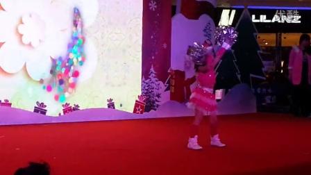 楚楚 圣诞平安夜 万达广场表演