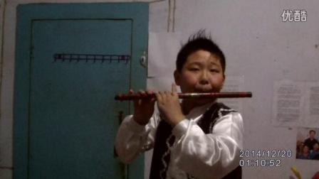 河南三门峡11岁男童周一鸣 笛子独奏挂红灯