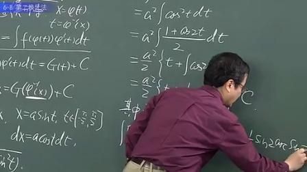 6.2 第二换元法【第六章 原函数和不定积分】高等数学 大一高数 之清华大学微积分特技教授讲授高数奥秘【微积分B(1)】