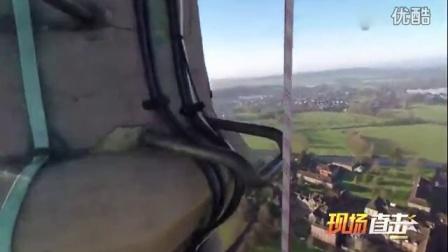 实拍男子攀爬120米高教堂 惊险过程令人腿部发软