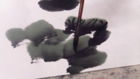 谷成席老师讲授葡萄的画法----葡萄叶与藤的画法