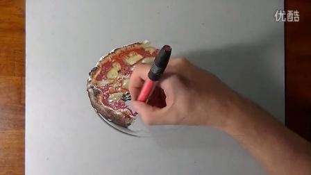 如何画一张油淋淋香喷喷的披萨