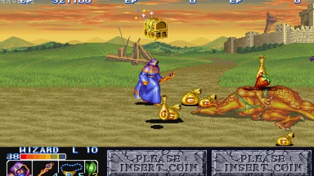 CPS『The King of Dragons』Easiest Mode - Wizard