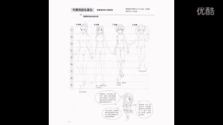 日本漫画大师讲座之美少女画法第二讲:头身比法则