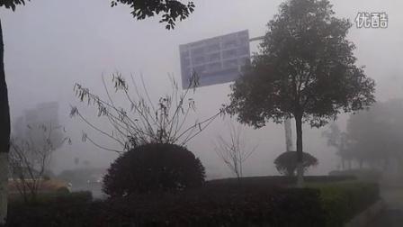株洲市2015一月首次雾霾天气 段振周拍