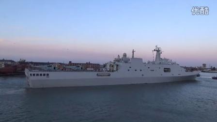中国海军 长白山号访问英国朴茨茅斯港