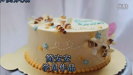 韩式裱花 奶油霜裱花 纸杯蛋糕装饰 简安安201501学员作品