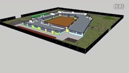 幼儿园建筑设计动画