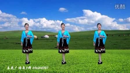 春花广场舞《爱情在草原》(附口令及背面)原创