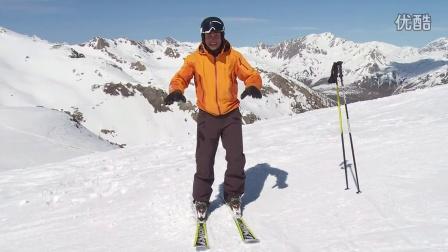 Expert Ski Lessons+#7.2 Body Position Long Turns 滑雪英语专业级 带中英字幕