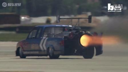 喷气动力的雪佛兰汽车挑战飞机比赛