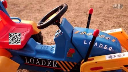 儿童电动工程车 挖掘机 推土机 可坐可骑仿真