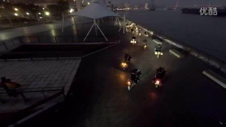 -=FB-I=-航拍BMW R1200GS摩托年会暨夜间巡游-2015-01-24