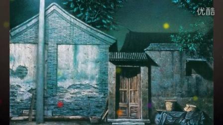 【中国民俗画家-故宫油画家-当代民居画家-萧鹏-888-中华艺术频道】夜幕幻想10