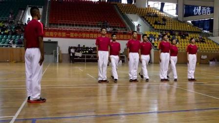 南宁市青秀区体育教师技能教师代表队列队形展示