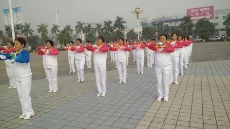广西龙州县鹤之舞队快乐舞步健身操