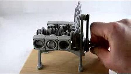 3D打印保时捷发动机模型_3D科学谷
