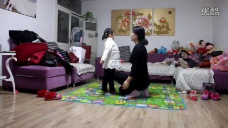 2015年1月26日张楚凡和妈妈跳舞