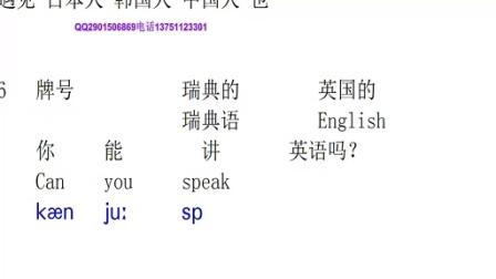新概念英语第6课 单词01