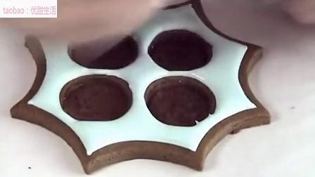 超美圣诞姜饼饼干装饰
