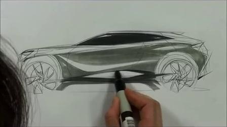 【greendesign】汽车设计 素描20141021