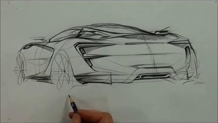 【greendesign】汽车设计 素描20141018