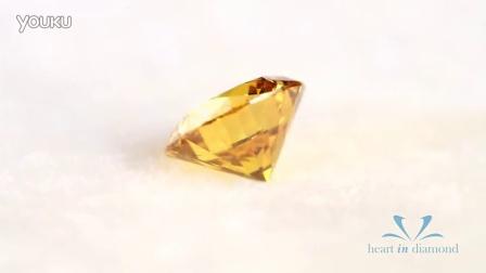 英国恒远钻石(心音钻石) Heart In Diamond  橙黄色圆形切工 Orange Heart In Diamond Round Cut