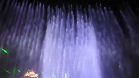 超震撼 眉山市湿地公园音乐喷泉