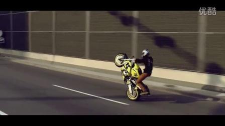 波兰街头非法摩托车特技表演-卡托维兹2014