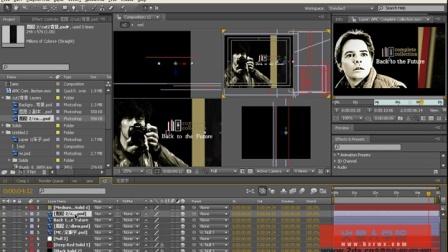 03-03-AMC影视片头制作-AE三维层与层蒙版(总合成镜头制作) 影视后期制作 c4d实例教程 ae基础教程 ae特效教程