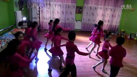 宁夏银川新兰拉丁瑜伽舞蹈培训机构大班银牌恰恰套路表演2