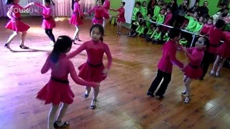 宁夏银川新兰拉丁瑜伽舞蹈培训机构大班银牌牛仔套路表演2