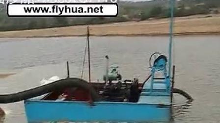 广东江门小型抽砂机 小型吸砂机 小河道河道采沙机视频