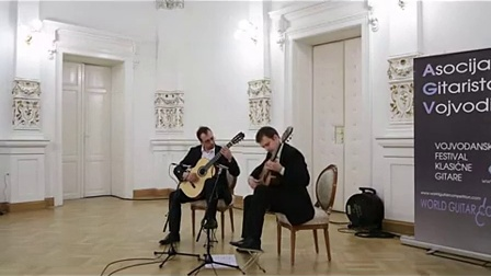 黑山吉他二重奏 Montenegrin guitar duo plays Dušan Bogdanović