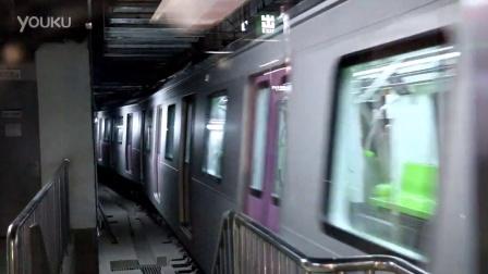 实拍北京地铁14号线善各庄站站后折返(出站)