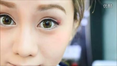 ❤Pinkicon 香港美瞳網❤美瞳示範分享❤譚杏藍 Hana Tam - 兩分鐘賀歲眼妝 My CNY Eyes Makeup