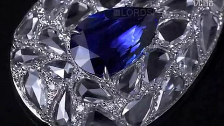 国际珠宝品牌:劳德珠宝艺术珍品2.92克拉水滴蓝宝坠