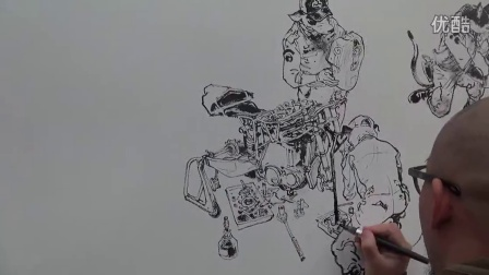 ??? JungGi Kim Drawing show in Angoulême BD festival 2015